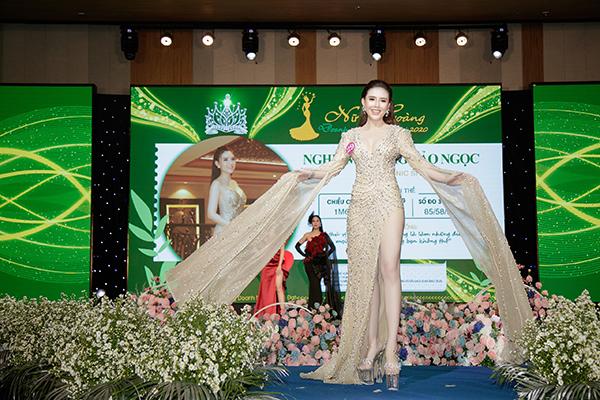 Người đẹp Nghiêm Hoàng Bảo Ngọc là Đại sứ hình ảnh duy nhất của chương trình Nữ hoàng Doanh nhân Thành đạt 2020.