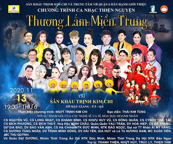 NSƯT Trịnh Kim Chi làm chương trình ủng hộ miền Trung
