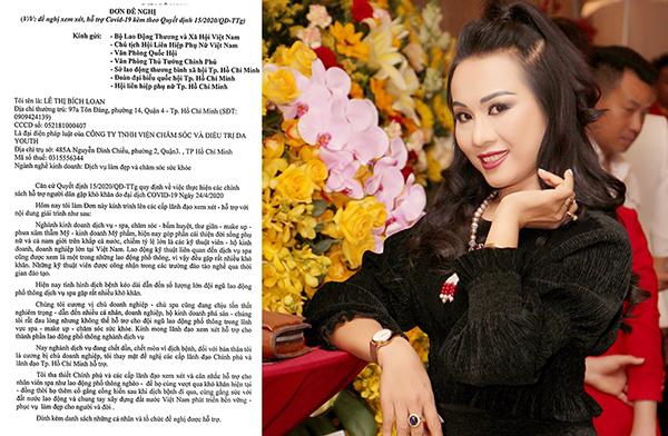CEO Lê Phạm xin hỗ trợ đến lao động ngành làm đẹp trong mùa dịch