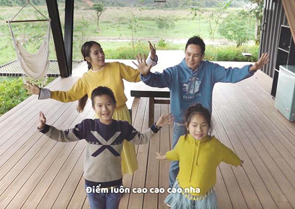 Các con của Lý Hải khoe tài hát và đọc rap trong MV mới