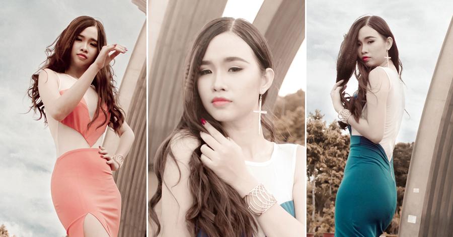 Thanh Trang gợi cảm với váy đầm đuôi cá của Tommy Nguyễn