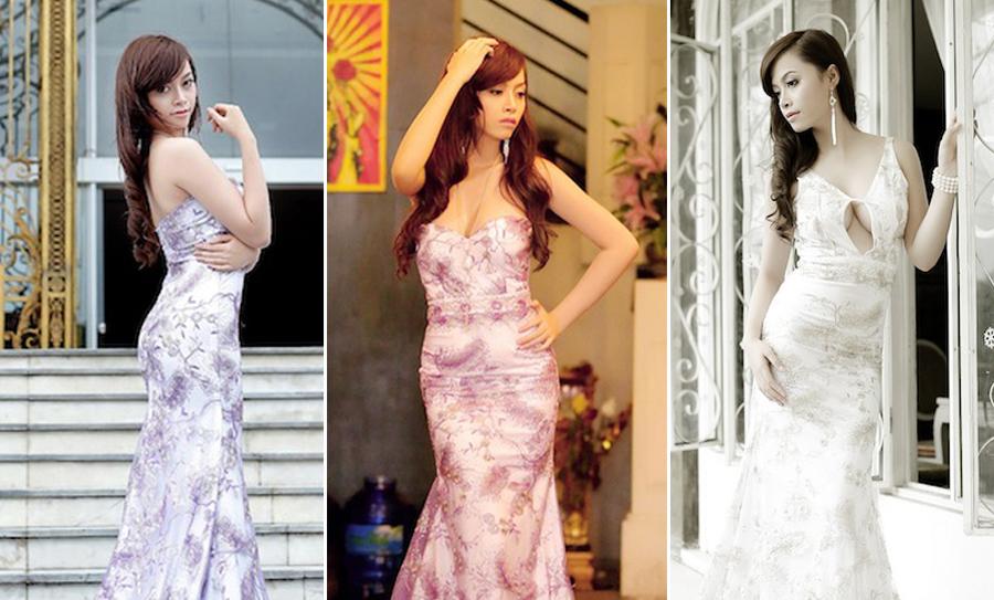 Người đẹp quyến rũ với váy đầm đuôi dài của NTK Tommy Nguyễn