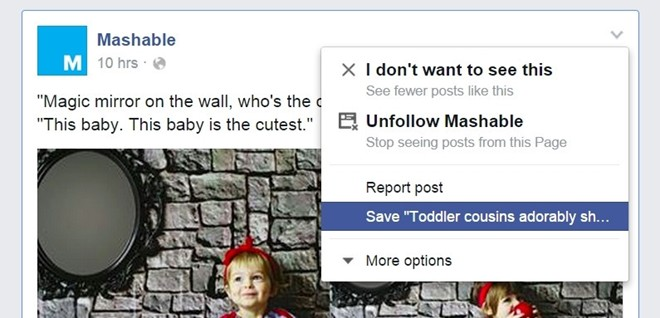 Cách lưu trữ nội dung trên Facebook