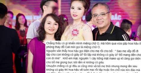 """Hoa hậu Kỳ Duyên bị dân mạng tố """"quát"""" bố mẹ trước đám đông"""