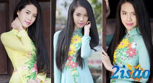Hoa khôi Phương Nam Huệ Thanh khoe vẻ đẹp thuần Việt với áo dài Tommy Nguyễn