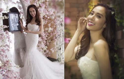 Hoa hậu Nguyên Khánh đẹp rạng ngời váy cưới cô dâu