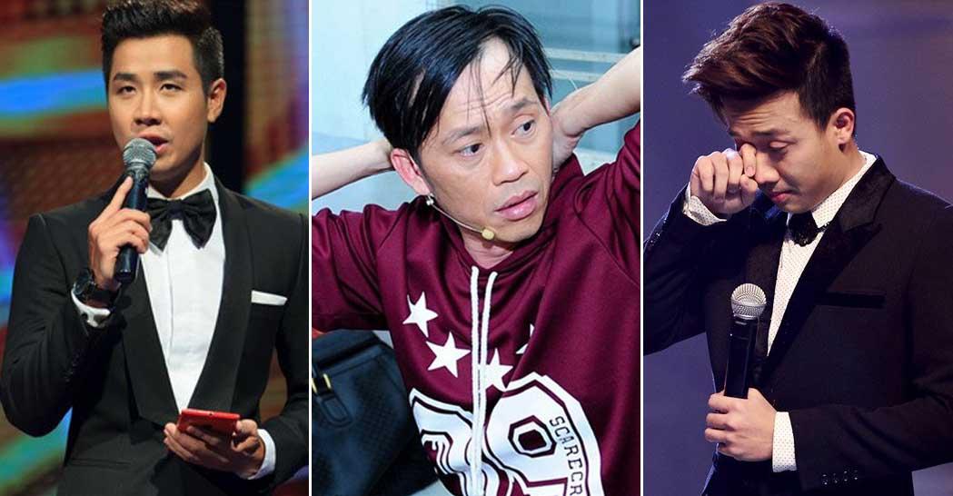 Phản ứng của các MC gameshow Việt khi bị ném đá