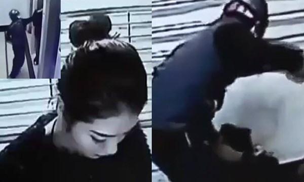 Dùng gạch đập đầu hot girl, cướp tài sản ở cây ATM