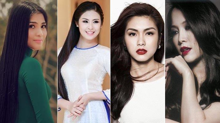 Những mái tóc dài đáng ghen tỵ của mỹ nhân Việt