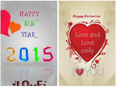 Ứng dụng giúp tự tạo tấm thiệp mừng cho ngày lễ tình nhân và năm mới