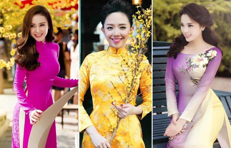 Mỹ nhân showbiz Việt rạng rỡ chúc Tết người hâm mộ