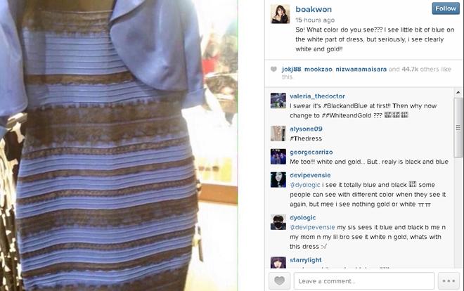 Sao Hàn gia nhập cơn sốt đoán màu váy lạ