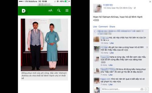 Đồng phục mới của tiếp viên Vietnam Airlines bị chê quá xấu