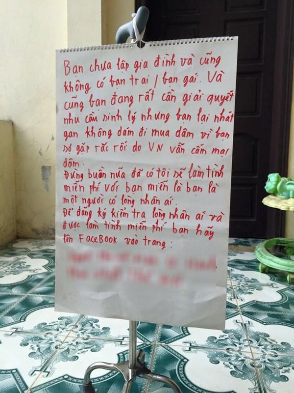 Cô gái Hà Nội 'mây mưa' miễn phí với người có lòng nhân ái?!