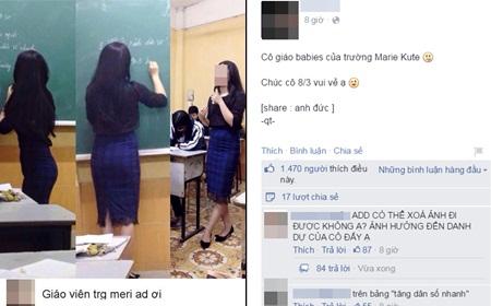 Sốc với những comment thiếu văn hoá dưới bức ảnh của nữ giáo viên Hà Nội