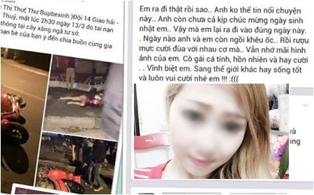 Hà Nội: Xót xa cô gái trẻ xinh đẹp tử nạn đúng ngày sinh nhật