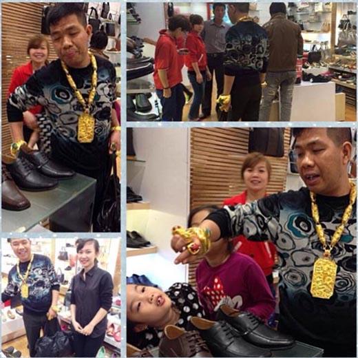 Người đàn ông đeo đầy vàng náo loạn trung tâm thương mại