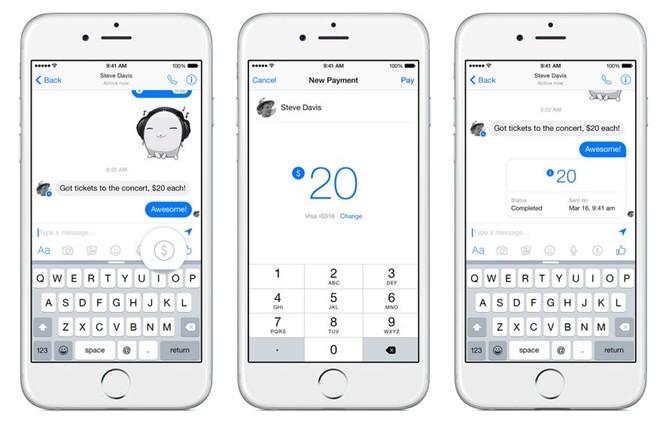 Facebook sắp cho gửi tiền qua Messenger