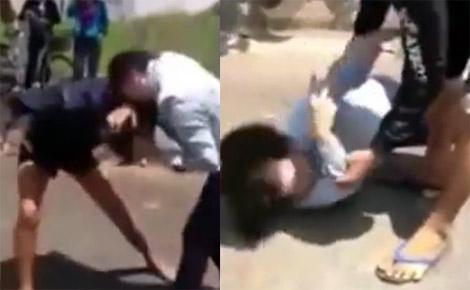 Nữ sinh đánh nhau đến ngất xỉu giữa đường nói gì?