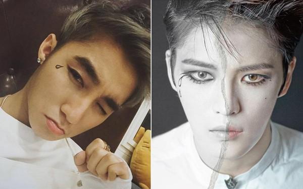 """Sơn Tùng M-TP """"đụng"""" ý tưởng hóa trang với Jaejoong (JYJ)"""