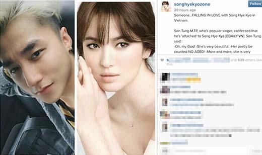 Thực hư chuyện Song Hye Kyo bất ngờ đăng ảnh Sơn Tùng M-TP