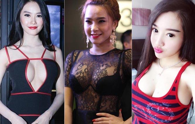 """Những vòng ngực """"ngồn ngộn"""" gây nhức mắt của mỹ nhân Việt"""