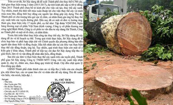 Lộ diện những doanh nghiệp tài trợ chặt 6.700 cây xanh ở Hà Nội