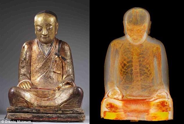 Phát hiện xác ướp ẩn trong tượng Phật ngàn năm