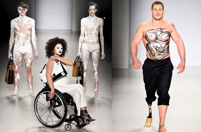 Những người mẫu đặc biệt trên sàn catwalk