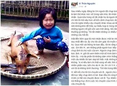 """Câu chuyện thật đằng sau bức ảnh """"cô bé khóc bên chú chó bị giết thịt"""""""