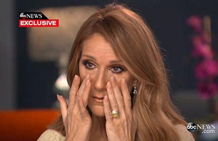 Celine Dion nức nở khi nhắc đến người chồng bệnh tật