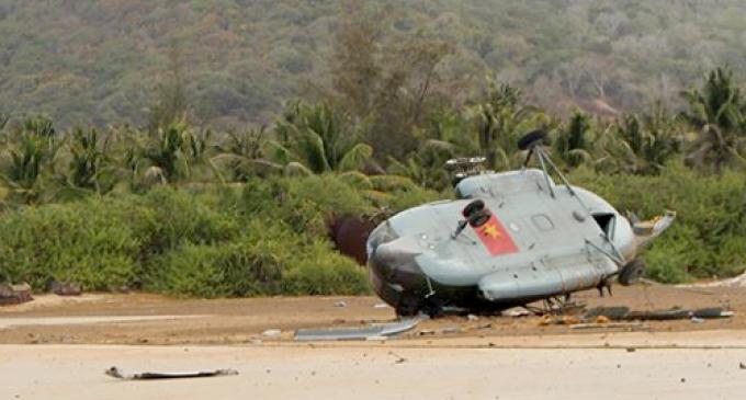 Trực thăng MI8 rơi do gió giật