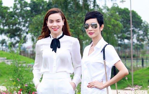 Sao Việt mê mẩn diện sắc trắng dự sự kiện ngoài trời