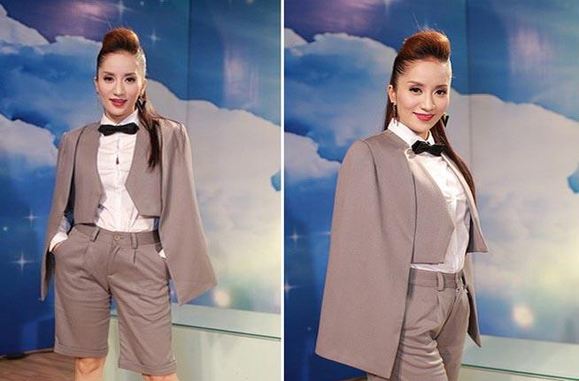 Thời trang bầu bí phong cách của Khánh Thi