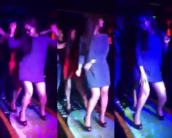 Bà ngoại U40 gây xôn xao với clip nhảy trong bar