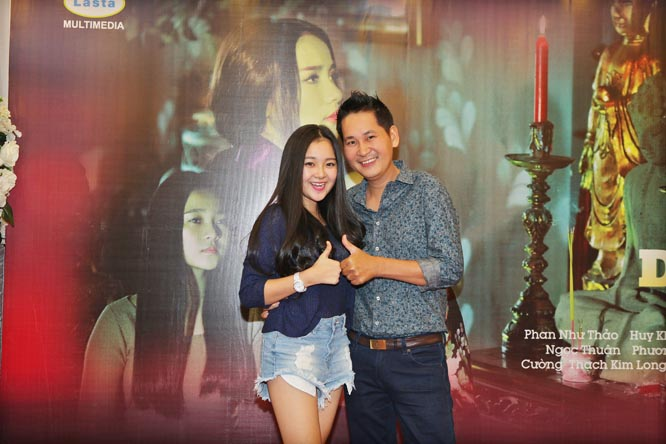 Đạo diễn Lê Minh thân mật với diễn viên nhí Tam Triều Dâng