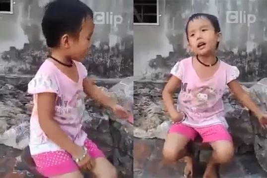Clip bé gái 4 tuổi say sưa hát dân ca xứ Nghệ