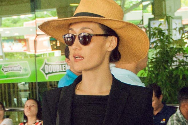Maggie Q mặc sành điệu khi đến TP HCM