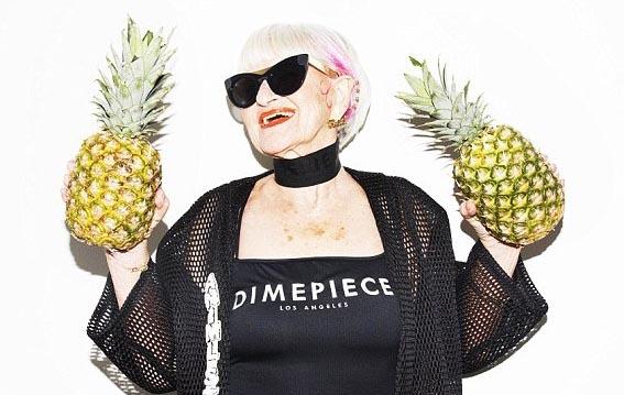 Cụ bà 86 tuổi làm người mẫu áo tắm