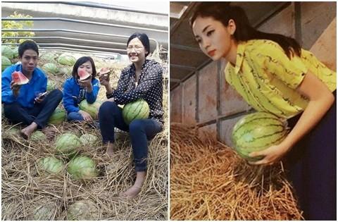Nguyễn Thị Loan buôn 3 tấn dưa hấu ủng hộ nông dân