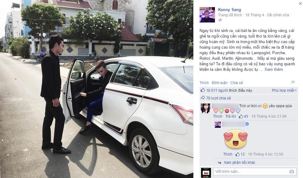 """Kenny Sang tiếp tục gây bão mạng khi """"mỗi ngày đi một siêu xe"""""""