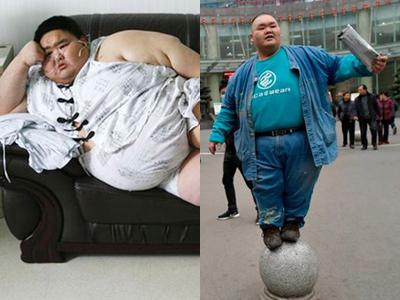 Người đàn ông béo nhất Trung Quốc giảm thành công 75 kg
