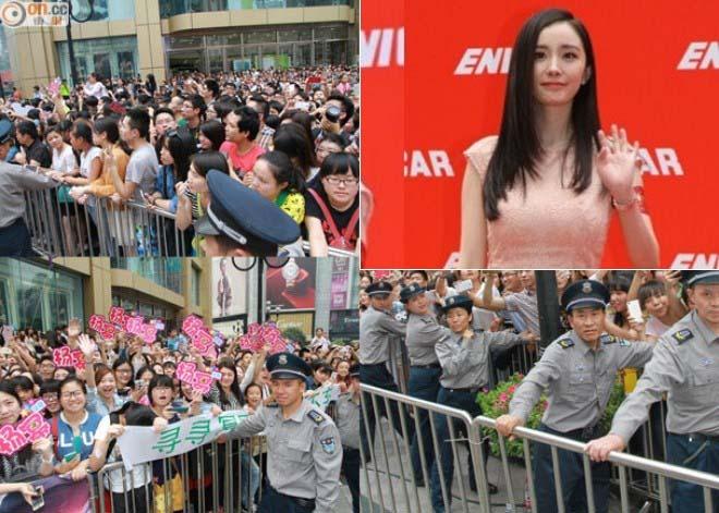 300 nhân viên an ninh được huy động vì Dương Mịch