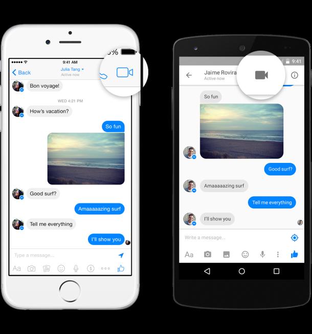 Facebook thêm nút gọi video vào ứng dụng Messenger