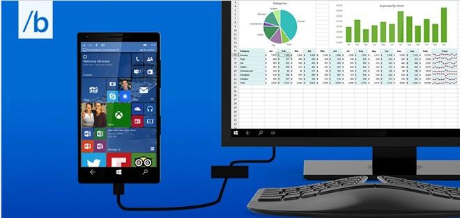 Điện thoại Windows 10 có thể hoạt động như máy tính