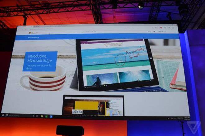 Microsoft ra mắt Edge - trình duyệt thay IE trên Windows 10