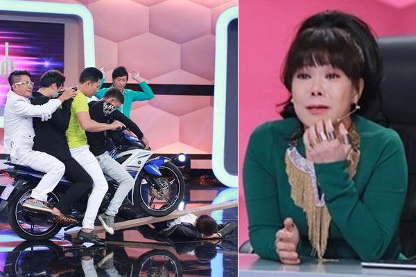 Việt Hương khóc nức nở tặng 10 triệu cho cậu bé để xe chạy qua người