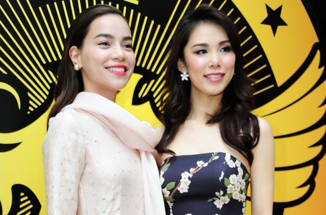 Hà Hồ đọ dáng gợi cảm bên Hoa hậu Hoàn vũ Riyo Mori