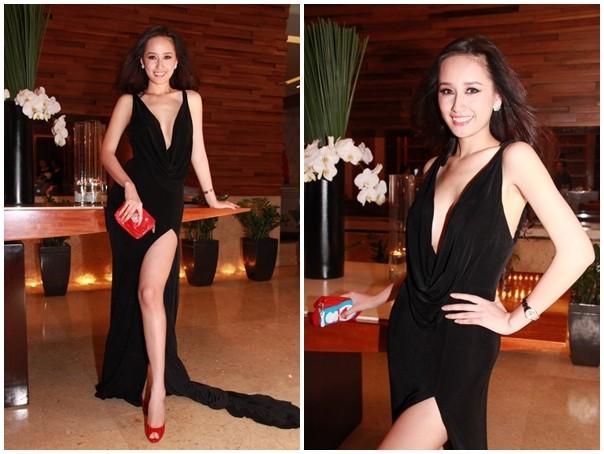 Váy xẻ trên, cắt dưới gợi cảm của mỹ nhân Việt