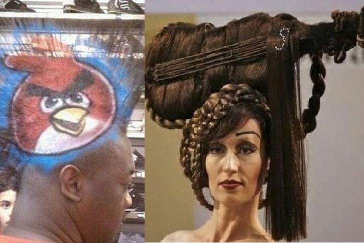 """Những kiểu tóc """"thách thức sự can đảm"""" của dân mạng"""
